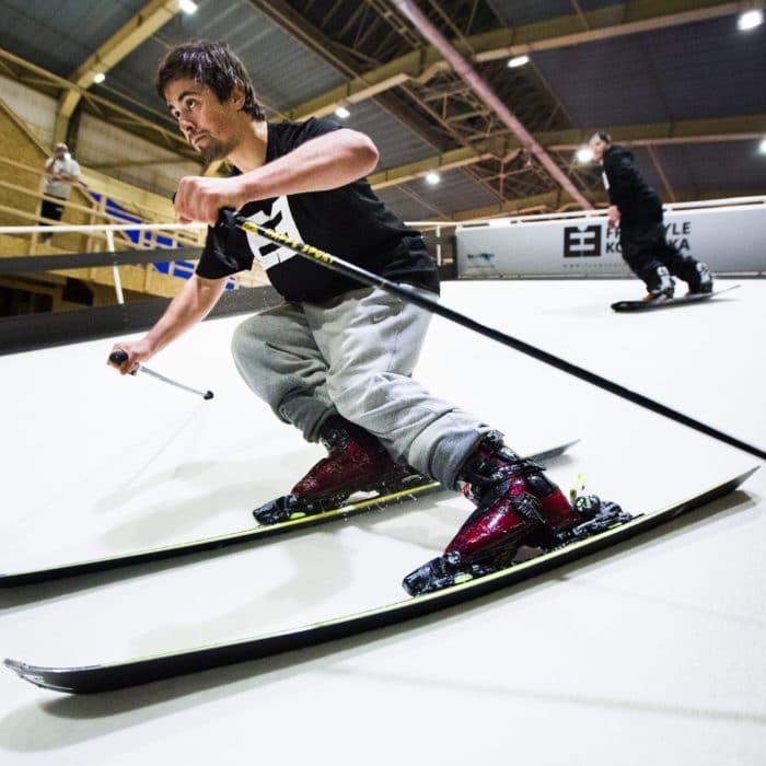 Praha 8.1.2015 Freestyle Kolbenka lyžování a snowboarding v h