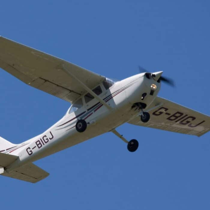 C172 v letu